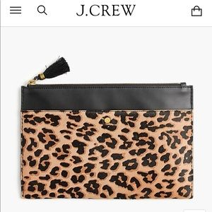 Calf Hair and Leather Clutch